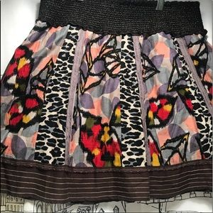 Free People Geometric/ Zebra Skirt